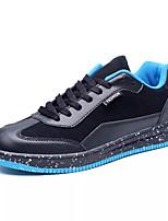Недорогие -Муж. Полиуретан Осень Удобная обувь Кеды Контрастных цветов Черный / Серый / Черный / синий