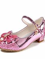 Недорогие -Девочки Обувь Полиуретан Весна & осень Детская праздничная обувь / Крошечные Каблуки для подростков Обувь на каблуках для Золотой / Серебряный / Розовый