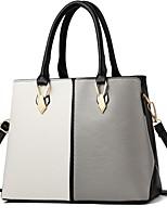 cheap -Women's Bags PU(Polyurethane) Shoulder Bag Buttons / Solid Blushing Pink / Gray / Purple