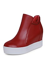 cheap -Women's Shoes Nappa Leather Spring & Summer Comfort Boots Flat Heel White / Black / Red