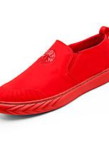 Недорогие -Муж. Полотно Лето Удобная обувь Мокасины и Свитер Черный / Красный