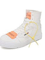 cheap -Men's Fashion Boots Canvas Fall & Winter Boots Mid-Calf Boots White / Black / Beige