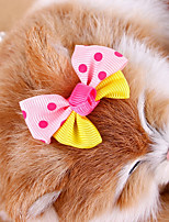 cheap -Rodents / Dogs / Rabbits Hair Bow Dog Clothes Bowknot / Princess Random Color Fabric Costume For Pets Headpieces / Costume Jewelry