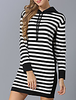 cheap -Women's Basic / Street chic Pullover - Striped, Print