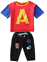 cheap -Toddler Boys' Color Block Short Sleeve Clothing Set