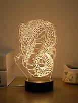 economico -1set 3D Nightlight Bianco caldo USB Creativo / Stress e ansia di soccorso / Sicurezza 5 V
