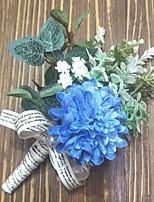 Недорогие -Свадебные цветы Бутоньерки / Букетик на запястье Свадьба / Вечерние Полиэстер 3.94 дюймовый