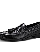 cheap -Men's Nappa Leather / Microfiber Spring Comfort Loafers & Slip-Ons Black / Wine