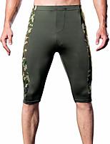 abordables -Hombre Short y Slip de Chico / Boxers Cortos camuflaje Media cintura