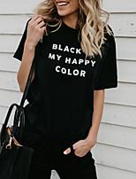 economico -T-shirt Per donna Alfabetico Cotone