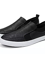cheap -Men's PU(Polyurethane) Spring Comfort Loafers & Slip-Ons Black / Gray / Red