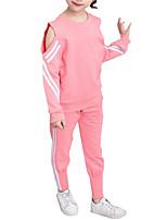 cheap -Kids Girls' Geometric / Patchwork Long Sleeve Clothing Set