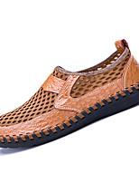 Недорогие -Муж. Сетка / Полиуретан Лето Удобная обувь Мокасины и Свитер Коричневый / Зеленый / Синий