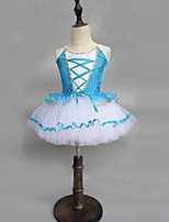 abordables -Danse classique Robes Fille Utilisation Spandex Ruché / Combinaison Sans Manches Robe