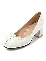 cheap -Women's Shoes PU(Polyurethane) Spring & Summer Basic Pump Heels Chunky Heel Square Toe White / Black / Khaki / Party & Evening