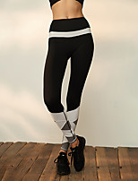 economico -Per donna Pantaloni da yoga - Bianco / Nero Gli sport Elastene Calze / Collant / Cosciali / Leggings Abbigliamento sportivo Traspirabilità, Compressione Elasticizzato