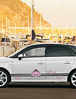 cheap -Blushing Pink Car Stickers Cartoon Door Stickers Cartoon Stickers