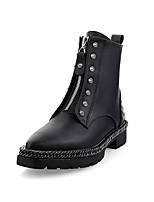 cheap -Women's Shoes Nappa Leather Fall & Winter Comfort Boots Flat Heel Black