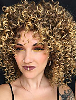 cheap -Synthetic Wig Curly Bob Haircut / Pixie Cut Synthetic Hair Party / Synthetic / Ombre Hair Brown Wig Women's Mid Length Capless / African American Wig / Yes / For Black Women