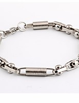 cheap -Men's Thick Chain Bracelet - Titanium Steel Inspire, Imagine Simple, Casual / Sporty, Fashion Bracelet Silver For Date / Going out