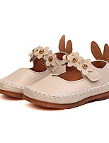 cheap -Girls' Shoes PU(Polyurethane) Spring & Summer Comfort / Flower Girl Shoes Flats Walking Shoes Flower for Toddler Black / Beige / Pink
