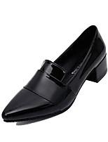 Недорогие -Жен. Обувь Полиуретан Осень Туфли лодочки Обувь на каблуках На толстом каблуке Заостренный носок Черный / Розовый / Винный