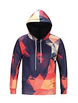 cheap -Men's Basic Hoodie - Geometric, Print