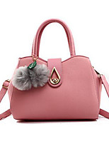 cheap -Women's Bags PU(Polyurethane) Tote Pom-pom Dark Gray / Beige / Light Grey