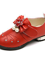 cheap -Girls' Shoes PU(Polyurethane) Spring & Summer Comfort / Flower Girl Shoes Flats Walking Shoes Imitation Pearl for Teenager Red / Pink