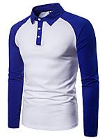 cheap -Men's Basic Polo - Color Block Black & White, Patchwork