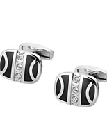 cheap -Geometric Silver Cufflinks Copper Classic / Basic Men's Costume Jewelry For Gift / Daily