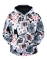 cheap -Men's Street chic / Exaggerated Hoodie - 3D, Print