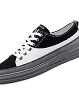 cheap -Men's PU(Polyurethane) Fall Comfort Sneakers Color Block White / Black