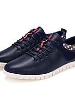 cheap -Men's Microfiber Fall & Winter Comfort Sneakers Black / Yellow / Blue