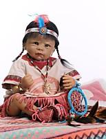 economico -NPKCOLLECTION Bambole Reborn Bambine 22 pollice Occhi marroni di impianto artificiale Per bambino Da ragazza Regalo