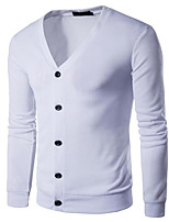 cheap -Men's Active / Street chic Cardigan - Solid Colored