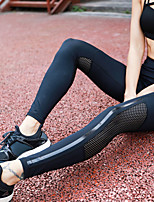 cheap -Women's Patchwork Yoga Pants - Black Sports Stripe Spandex, Mesh Tights / Leggings Running, Fitness, Dance Activewear Quick Dry, Breathable, Compression High Elasticity