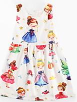 economico -Bambino (1-4 anni) Da ragazza Cartoni animati Senza maniche Vestito