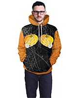 cheap -Men's Street chic / Exaggerated Hoodie - Geometric, Print