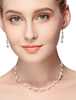 cheap -Women's Classic / Stylish Jewelry Set - Imitation Pearl Classic, Sweet, Elegant Include Pearl Necklace Silver For Wedding / Party