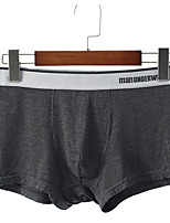abordables -Hombre Boxer Un Color Alta cintura