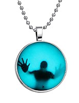 cheap -Men's Luminous Stone Long Pendant Necklace - Creative Fashion Blue 60 cm Necklace Jewelry 1pc For Halloween, Club
