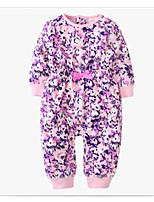 cheap -Baby Girls' Floral Long Sleeve Overall & Jumpsuit