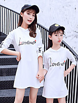 cheap -Mommy and Me Letter Short Sleeve Tee