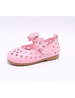 Недорогие -Девочки Обувь Полиуретан Лето Удобная обувь / Детская праздничная обувь На плокой подошве для Белый / Розовый