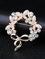 cheap -Women's AAA Cubic Zirconia Classic Brooches - Elegant Brooch Gold For Wedding / Festival