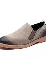 cheap -Men's Bootie Suede / PU(Polyurethane) Summer Loafers & Slip-Ons Booties / Ankle Boots Black / Gray / Khaki