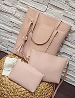 cheap -Women's Bags PU(Polyurethane) Bag Set 3 Pcs Purse Set Zipper Gray / Brown / Wine