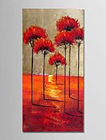 Недорогие -Hang-роспись маслом Ручная роспись - Абстракция / Пейзаж Modern холст