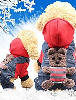 cheap -Rodents / Dogs / Cats Coat Dog Clothes Animal / Character Yellow / Red Cotton Costume For Pets Female Sports & Outdoors / Headwarmers